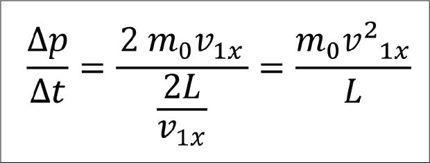 rumus laju perubahan momentum molekul