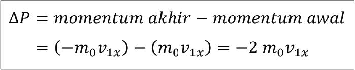 rumus perubahan momentum molekul gas