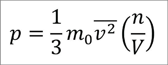 Rumus tekanan gas pada teori kinetik gas