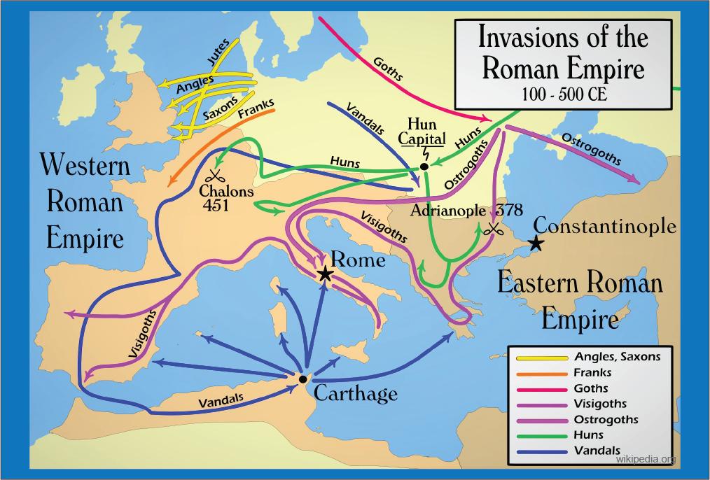 invasi kekaisaran romawi