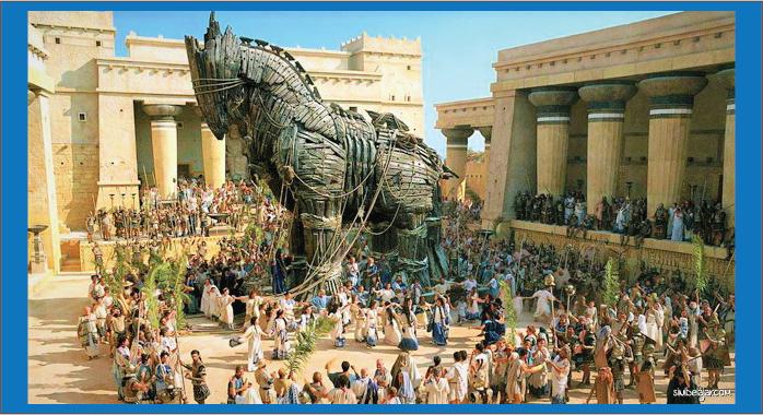kuda troya atau kuda trojan yunani