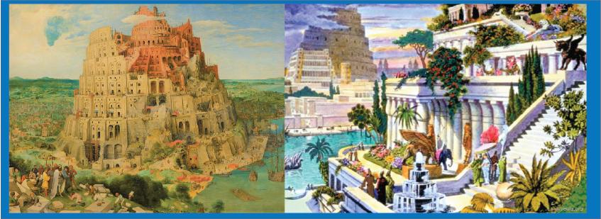 taman gantung dan menara Babilon