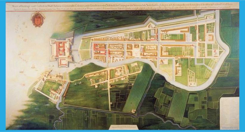 peta kota batavia