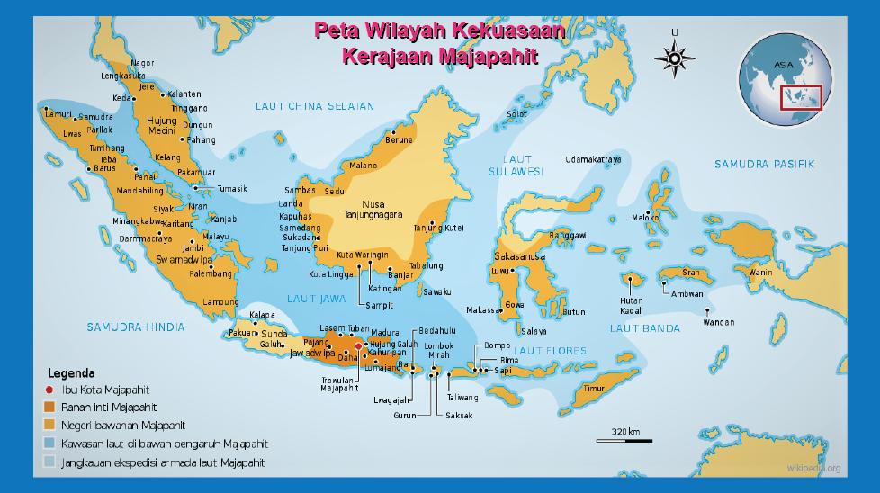 peta wilayah majapahit