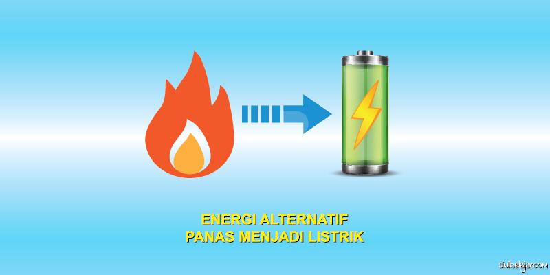 termoelektrik energi panas menjadi energi listrik