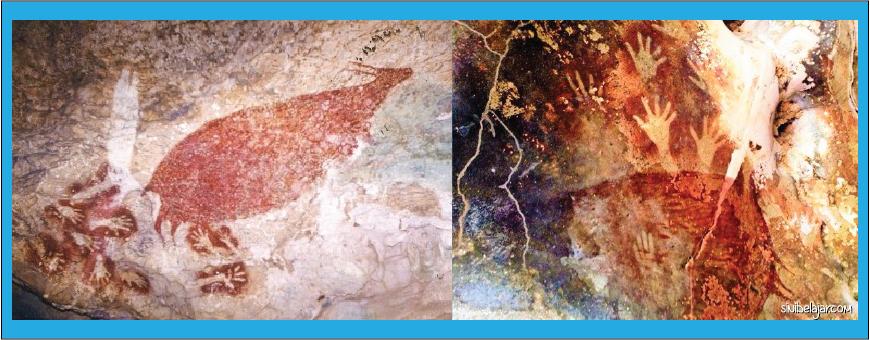 lukisan manusia purba di gua Leang-leang
