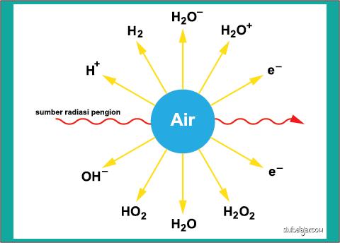 radiasi pengion molekul air