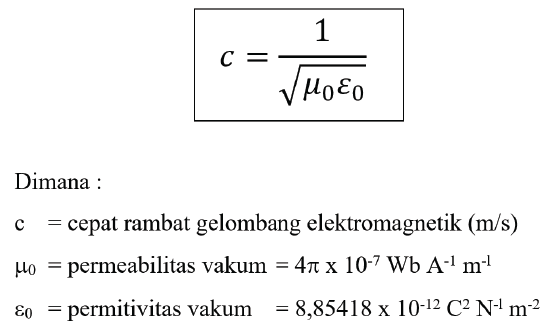 rumus cepat rambat gelombang elektromagnetik